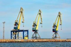 3 докового крана в морском порте Стоковое Фото