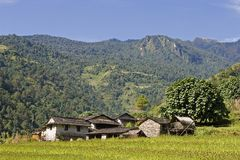 около села pokhara Стоковая Фотография
