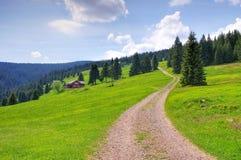 Около хаты Richterbaude горы в гигантских горах, Стоковая Фотография