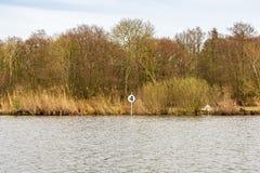 Около Wroxham, Broads, Норфолк, Англия, Великобритания Стоковое фото RF