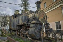 локомотивное старое ржавое Стоковые Изображения
