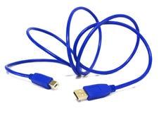 Оконечная кабельная коробка Usb изолированная на предпосылке Стоковая Фотография RF