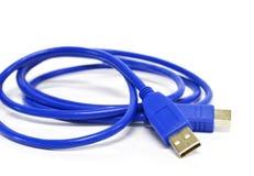 Оконечная кабельная коробка Usb изолированная на предпосылке Стоковое Фото