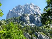 Оконечность скалистой горы в национальном парке Черногории стоковое изображение
