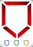 Оконтурите значок экрана в 4 цвете - безопасность, значок обороны, логотип иллюстрация вектора