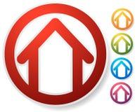 Оконтурите дом/символ, значок или логотип здания Стоковые Фотографии RF