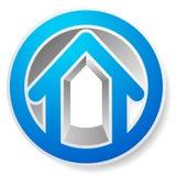 Оконтурите дом/символ, значок или логотип здания Стоковое Изображение