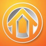 Оконтурите дом/символ, значок или логотип здания Стоковая Фотография