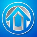 Оконтурите дом/символ, значок или логотип здания Стоковые Фото
