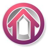 Оконтурите дом/символ, значок или логотип здания иллюстрация вектора