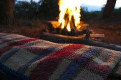 Около огня Стоковые Фото
