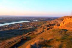 около села реки малого Стоковое фото RF