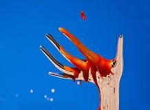 окровавленная рука сюрреалистическая Стоковое Изображение RF