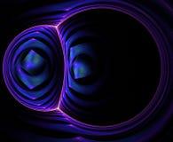 Округленная абстрактная фракталь Стоковые Фотографии RF