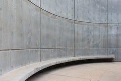 Округленная бетонная стена на запруде Hoover Стоковые Фото