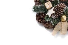 Округленное украшение конуса сосны Стоковое Фото