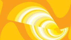 Округленный конспект переплел текстуру абстрактного космоса простую striped волшебную необыкновенную желтую пестротканых линий и  иллюстрация штока