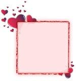 округленный красный цвет сердца рамки амаранта Стоковая Фотография RF