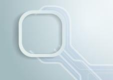 Округленная белизной предпосылка прямоугольника Стоковые Фото