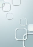 Округленная белизной предпосылка прямоугольников Стоковые Изображения