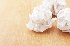 Округленная скомканная бумага Стоковые Изображения RF