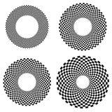 Округленная форма с checkered заполнением картины Contrasty конспект gr Стоковое Фото