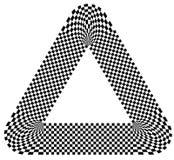 Округленная форма с checkered заполнением картины Contrasty конспект gr иллюстрация штока