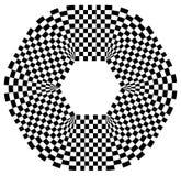 Округленная форма с checkered заполнением картины Contrasty конспект gr Стоковое Изображение