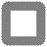 Округленная форма с checkered заполнением картины Contrasty конспект gr иллюстрация вектора