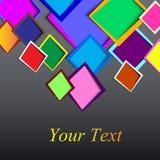 Округленные конспектом текстовые поля rectange Стоковое фото RF