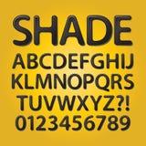 Округленные конспектом черные шрифт и номера тени Стоковая Фотография RF