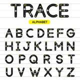 Округленные трассировкой письма алфавита uppercase Стоковые Фото