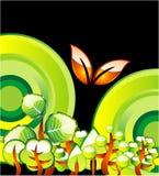окружающая среда карточки идет зеленый цвет Стоковое Изображение RF