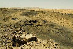 окружающая среда угля горит wuda Стоковая Фотография