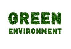 Окружающая среда зеленого цвета серии значков ECO Стоковое фото RF