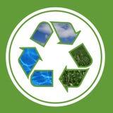 окружающая среда рециркулирует Стоковое фото RF