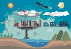 Окружающая среда Infographic Стоковая Фотография RF