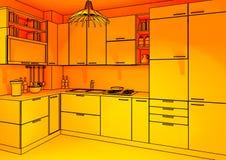 окружающяя кухня предпосылки стоковое изображение rf