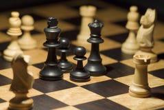 окруженные части противовключения шахмат Стоковое Изображение