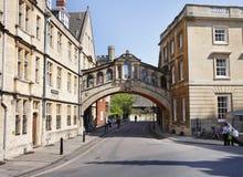Оксфордский университет Англии города стоковое изображение