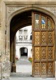 Оксфордский университет Англии oriel коллежа Стоковые Изображения