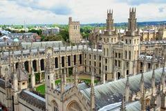 Оксфордский университет коллежа средневековый Стоковое фото RF