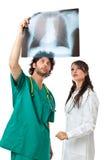 2 доктора и фильм луча x Стоковое Изображение RF