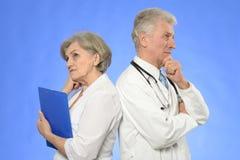 2 доктора на сини Стоковое фото RF