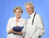 2 доктора на сини Стоковые Изображения