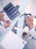 2 доктора на таблице Стоковое Изображение
