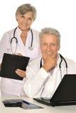 доктора с компьтер-книжкой Стоковая Фотография