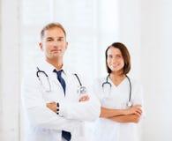 2 доктора с стетоскопами Стоковое фото RF