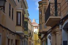 Октябрь 2017, Ciutadella, Minorca Солнечный день в одном из Балеарских островов Стоковое фото RF