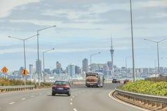 Окленд, новая Зеландия 10-ое декабря 2013 Мост гавани Окленда Стоковая Фотография RF